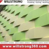 Panneau en aluminium pour le revêtement PVDF Desigin personnalisé par enduit de mur