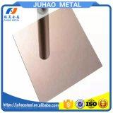 hoja de acero inoxidable del espejo del oro del color 304 316 316L