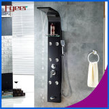 Fyeer High Quality Massage Rainfall Stainless Steel Black Shower Panel