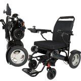 Fauteuil roulant facile handicapé de pouvoir de pli le plus léger de fauteuil roulant électrique