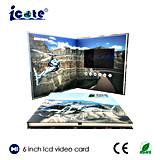 Новая конструкция для видеоего LCD книга в твердой обложке 6 дюймов в печатание для рекламировать