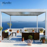 Gazebo en aluminium de Pergola de toit de patio de jardin moderne avec l'écran latéral