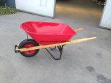 Carrello di legno del carrello della riga della barra di rotella della carriola Wh5400 della maniglia
