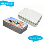 Customized Sublimation Metal Candy Box com Heat Press Blank