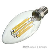 E14 6Wの純粋で白く暖かく白い穂軸のエジソンのフィラメントの球根LEDの軽い蝋燭AC 110V