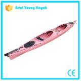 Kajak plástico al por mayor de la pesca en mar de los asientos del barco dos de la canoa del relais