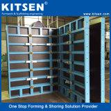 Muro de hormigón reforzado aluminio formas