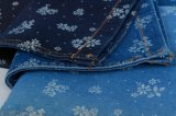 Spandex scuro del poliestere del cotone dell'indaco del jacquard 7.8OZ per i jeans