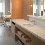 Kingkonree ha personalizzato la vanità di pietra dell'angolo della stanza da bagno di Caesarstone