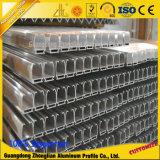 Carril de guía de aluminio de las protuberancias de aluminio de encargo