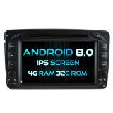 Automobile DVD del Android 8.0 di Octa-Memoria di Witson (memoria otto) per lo schermo della ROM IPS dello schermo di tocco della ROM 1080P del codice categoria W203 4G di Mercedes-Benz C 32GB