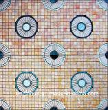 Mosaïque de marbre blanche normale populaire d'Onyx de mosaïque de décoration en pierre de mosaïque
