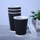 Meilleures ventes de tasse de café de paroi de l'ondulation du papier