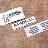 Etiquetas impressas barato tecidas novas do projeto