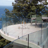 Pasamano de cristal de cristal de la espita de la abrazadera del acero inoxidable de Frameless Blaustrade del balcón