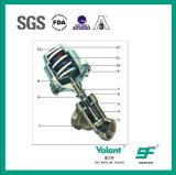 Válvula de regulamento pneumática sanitária da válvula do assento do ângulo do aço inoxidável