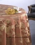 Pano de tabela redondo popular do casamento do damasco do preço de fábrica