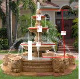 Fuente de la bola del jardín para la fuente de agua de mármol de piedra del granito