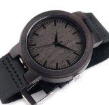 La alta calidad de madera del reloj del deporte de lujo del hombre modificó los relojes para requisitos particulares