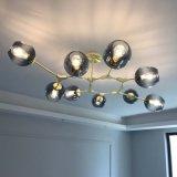 Pendente de esferas de vidro moderna decoração de Luz