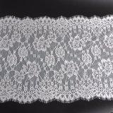 Cordón chino blanco del francés de la materia textil del acoplamiento del cordón del telar jacquar