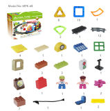 68 Parts Plastic Magnetic Track Train Building Toys Blocks