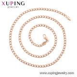 44682 Kristal van CZ van de manier nam het Elegante de Gouden Halsband van de Tegenhanger van de Juwelen van de Kleur toe