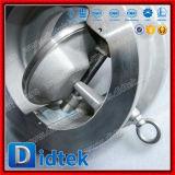 Свет Didtek и компактное CF8m опрокидывая задерживающий клапан вафли диска