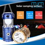 2018 lanterna di campeggio solare ricaricabile di Lamp&Solar LED della tenda di vendita calda LED con il caricatore