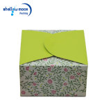 Caja de embalaje de la tarjeta del papel de la torta rosada de la impresión (QY150399)
