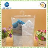 Sacchetto cosmetico di plastica del PVC della radura trasparente dei commerci all'ingrosso con la chiusura lampo (JP-plastic033)