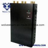 6本のアンテナ選択可能なポータブルGPS Lojack 3G 4G Wimaxすべての電話シグナルの妨害機