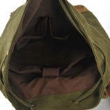 Fashion Cowhide Leather Comping Mochila Lona Encerada Backapck Laptop Bag (RS-1978D)