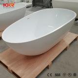 Vasca da bagno libera dell'acquazzone di condizione della pietra artificiale moderna