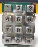 Tastiera quadrata del telefono con la lampadina, tastiera della lampadina del metallo con 12-Key