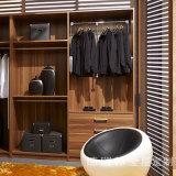 Guardarropa de los muebles de /Cloakroom del dormitorio con el armario de madera de la cabina de la despensa del aumento