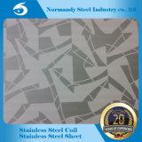 202 3cr12 Plaque en acier inoxydable gaufré/gravure pour la décoration