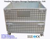 Гальванизированный складной & Stackable контейнер ячеистой сети хранения пакгауза