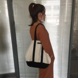 16oz de lienzo de la moda de compras de algodón bolsas de mango para damas