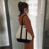 16oz女性のための贅沢な方法キャンバスのショッピングハンドル袋