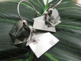 Metal Alloy Jewelry Silver 家の形の円形のイヤリングを着色しなさい
