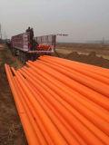 Chemise de fonte chaude de tube de protection de câble de PE de joint plat pour des pipes de saleté, de perte et d'évent
