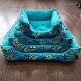 方法青いペットクッション、暖かいペットベッドの製品