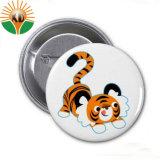 El mejor venta de material de la hojalata distintivo botón personalizado
