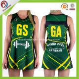 中国のネットボールの服、ネットボールのユニフォーム、ネットボールジャージーで顧客用