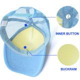 Casquillo en blanco de la sublimación del béisbol del algodón del poliester del sombrero de la sublimación