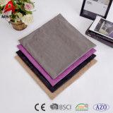El poliester 100% sujetó con cinta adhesiva la cubierta llana decorativa al por mayor de encargo de la almohadilla