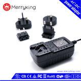 Vriendschappelijke 12W AC AC van Eco Adapter met de Verwisselbare Adapter van de Macht van de Stop USB