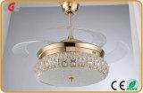 Licht van de Plafondventilator van de Reeks van het kristal het Decoratieve Voor Restaurant