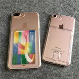 Caso Anti-Shock macio de TPU com a ranhura para cartão para o iPhone 7